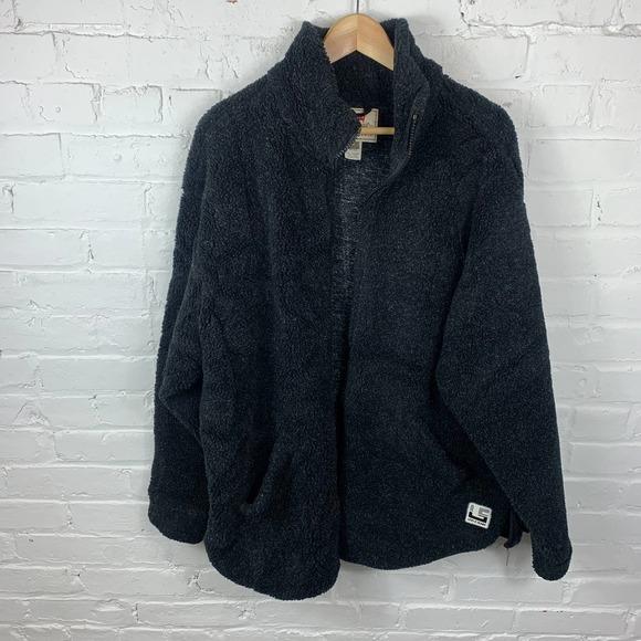 Levi's Men's Front Full-Zip Fleece Jacket Long Sleeve Mock Neck Solid Black SZ M
